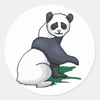 Giant Panda Round Sticker