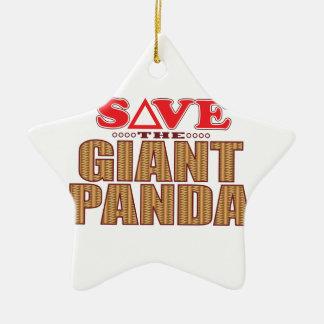 Giant Panda Save Ceramic Ornament