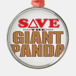 Giant Panda Save Metal Ornament
