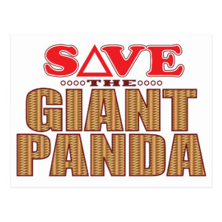 Giant Panda Save Postcard