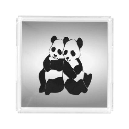 Giant Panda Vanity Acrylic Tray