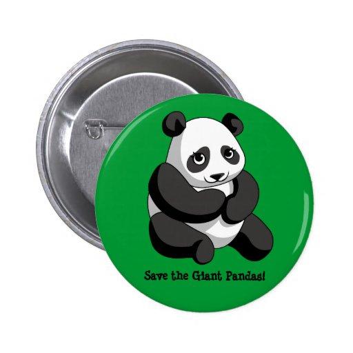 Giant Pandas 2 Inch Round Button