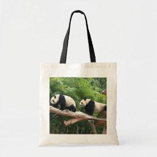 Giant pandas tote bag