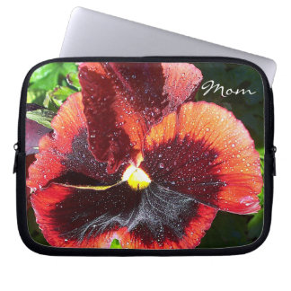 "Giant Pansy Flower ""Mom"" Laptop Sleeve"