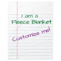 Giant Paper - Fleece Blanket