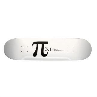 """Giant """"Pi"""" Symbol & 3.14... Skateboard Deck"""