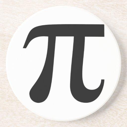 "Giant ""Pi"" Symbol Beverage Coasters"