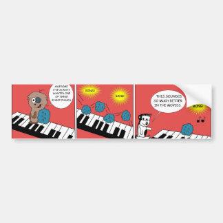 Giant Piano Bumper Sticker