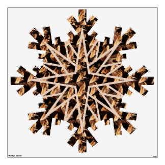 Giant pine cone pattern snowflake room decal