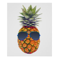 Giant Pineapple Wearing Sunglasses, Foodies, ZSSG Poster