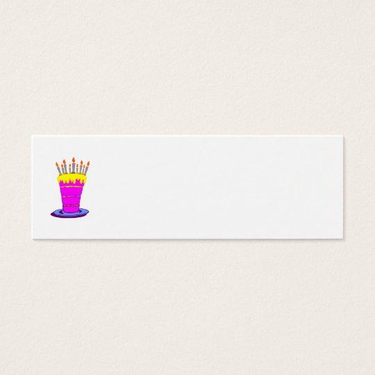 Giant Pink Birthday Cake Mini Business Card