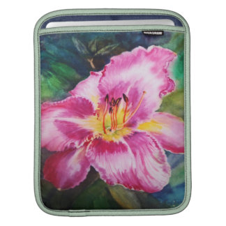 Giant Pink Flower - Watercolor Sleeve For iPads