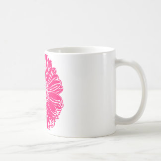 Giant Pink Gerbera Daisy Coffee Mug