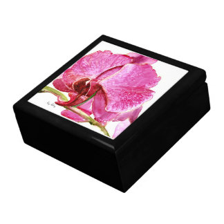 Giant Pink Orchid Jewelry Box
