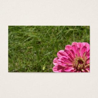 Giant Pink Zinnia Business Card