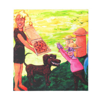 Giant, Pizza, Dog and Cow Notepad