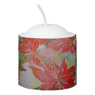Giant Poinsettias for the Holidays Votive Candle