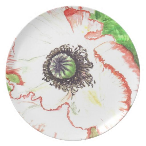 'Giant Poppy' Plate