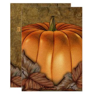 Giant Pumpkin Medium Halloween Party Invitation