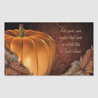 Giant Pumpkin Personalized Stickers