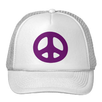 Giant Purple Peace Sign Hats