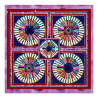 Giant Rare Holy Red n Blue Balanced Energy Chakra Poster