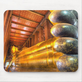Giant reclining Buddha inside temple, Wat Pho, Mouse Pads