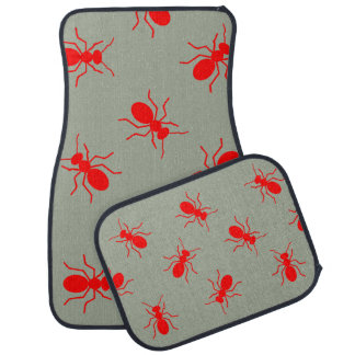 Giant Red Fire Ants Swarm Novelty Car Floor Mats