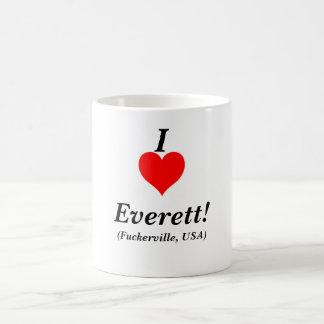 giant_red_heart, I, Everett!, (Fuckerville, USA) Classic White Coffee Mug