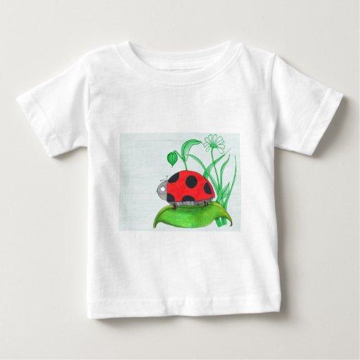 Giant red ladybug on a leaf infant t-shirt