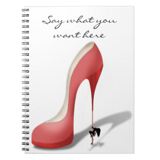 Giant Red Stiletto Cartoon - Heel Dancer Notebooks