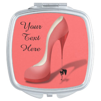 Giant Red Stiletto Cartoon - Heel Dancer Compact Mirror
