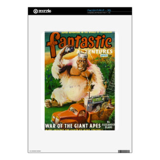 Giant Remote-controlled White Gorilla iPad Skin