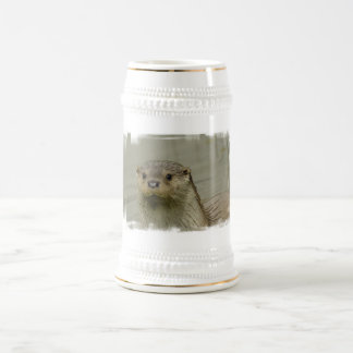 Giant River Otter Beer Stein 18 Oz Beer Stein