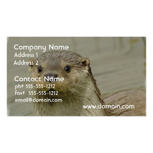 Giant River Otter  Business Card