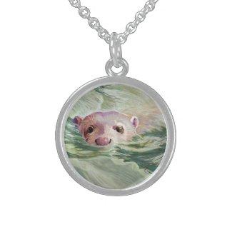 Giant River Otter Fine Art Custom Necklace