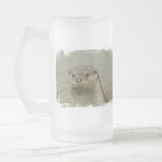 Giant River Otter  Frosted Beer Mug