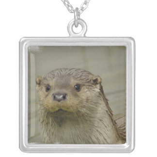 Giant River Otter  Sterling Silver Necklace