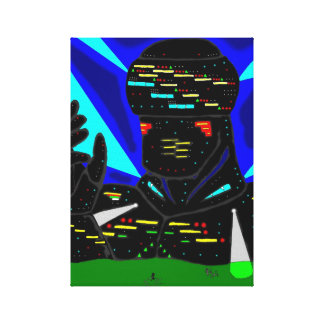 Giant robot canvas gallery wrap canvas