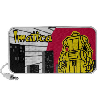 Giant Robot Imatica Travelling Speakers