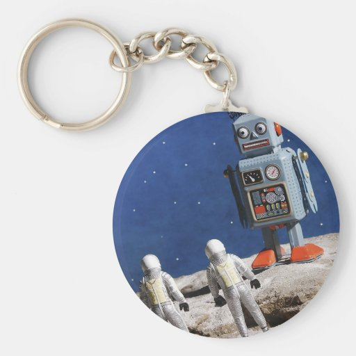 Giant Robot on the Moon Keychains