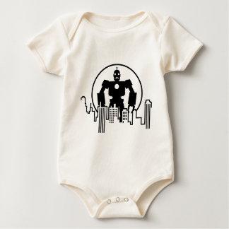 Giant Robot Skyline Baby Bodysuit