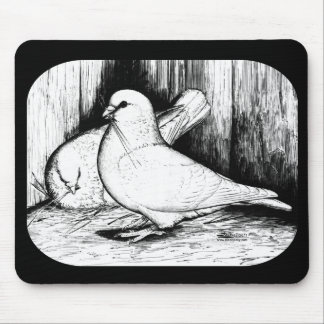 Giant Runt Pigeons Mouse Pad