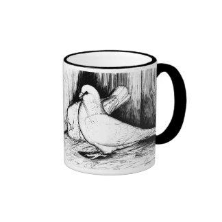Giant Runt Pigeons Ringer Coffee Mug