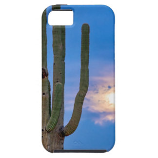 Giant Saguaro Cactus Golden Cloudy Full Moonset iPhone SE/5/5s Case