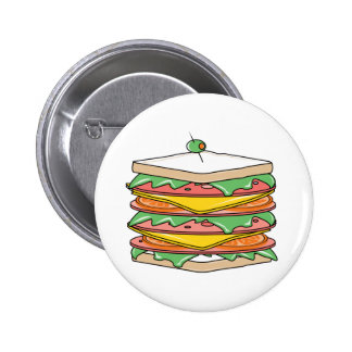 Giant Sandwich Pinback Buttons