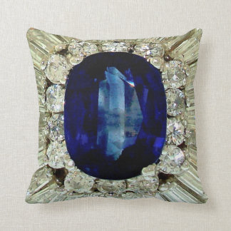 Giant Sapphire Emerald Diamonds Costume Jewelry Throw Pillows