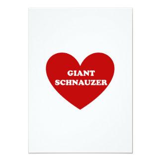 Giant Schnauzer 5x7 Paper Invitation Card