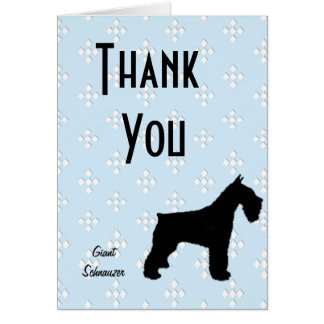 Giant Schnauzer ~ Blue w/White Diamond Design Card