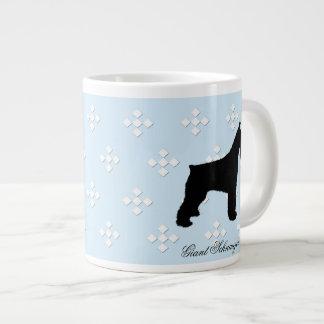Giant Schnauzer ~ Blue w/White Diamond Design Large Coffee Mug